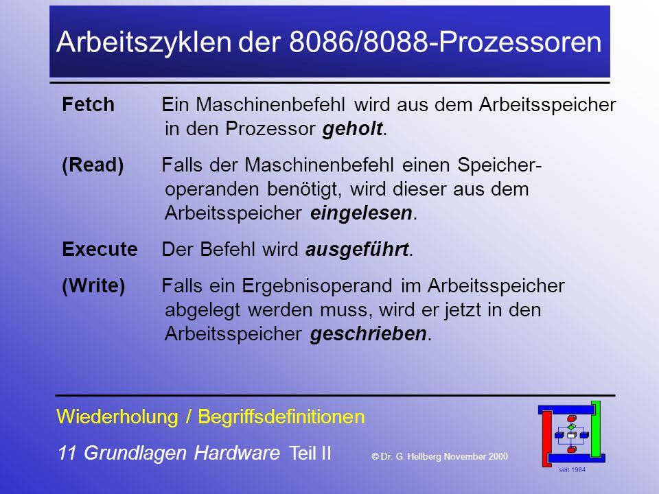 11 Grundlagen Hardware Teil II © Dr.G.