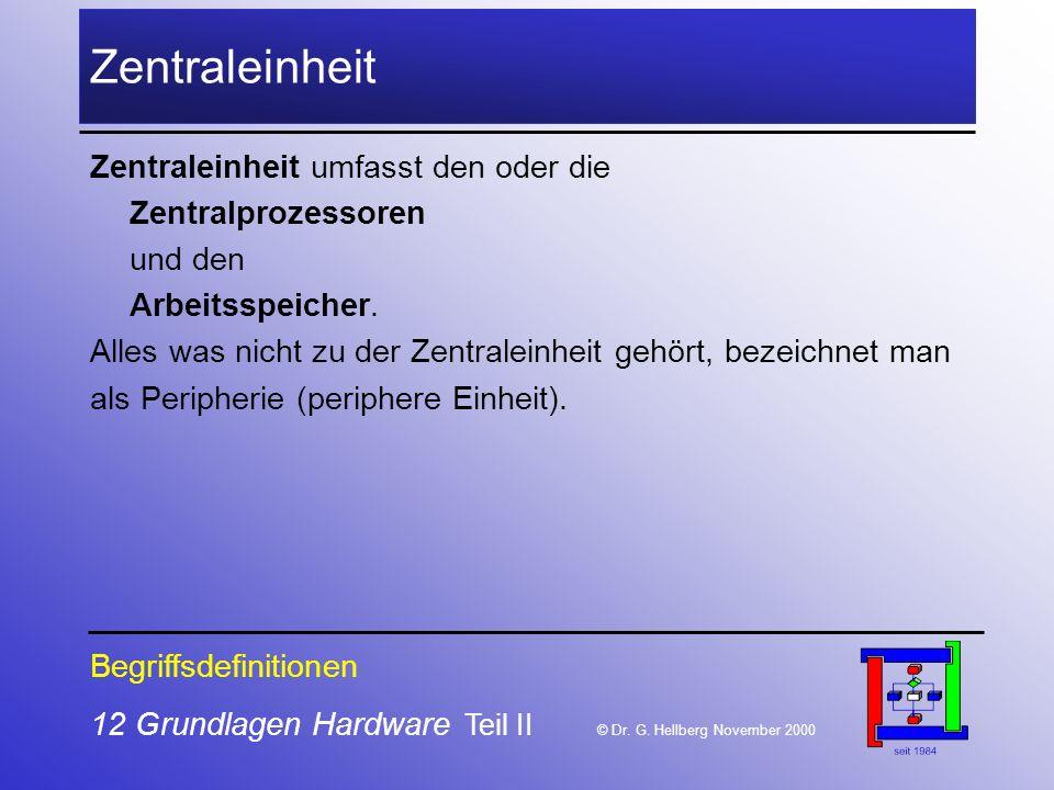 12 Grundlagen Hardware Teil II © Dr.G.