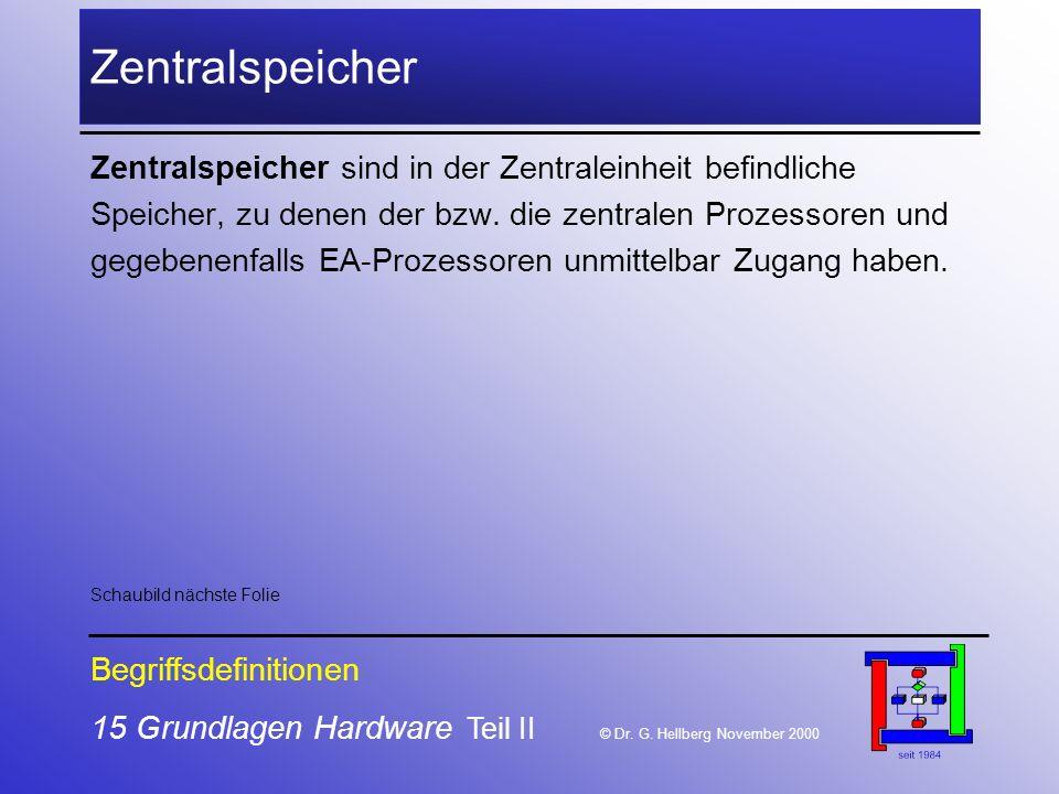 15 Grundlagen Hardware Teil II © Dr.G.