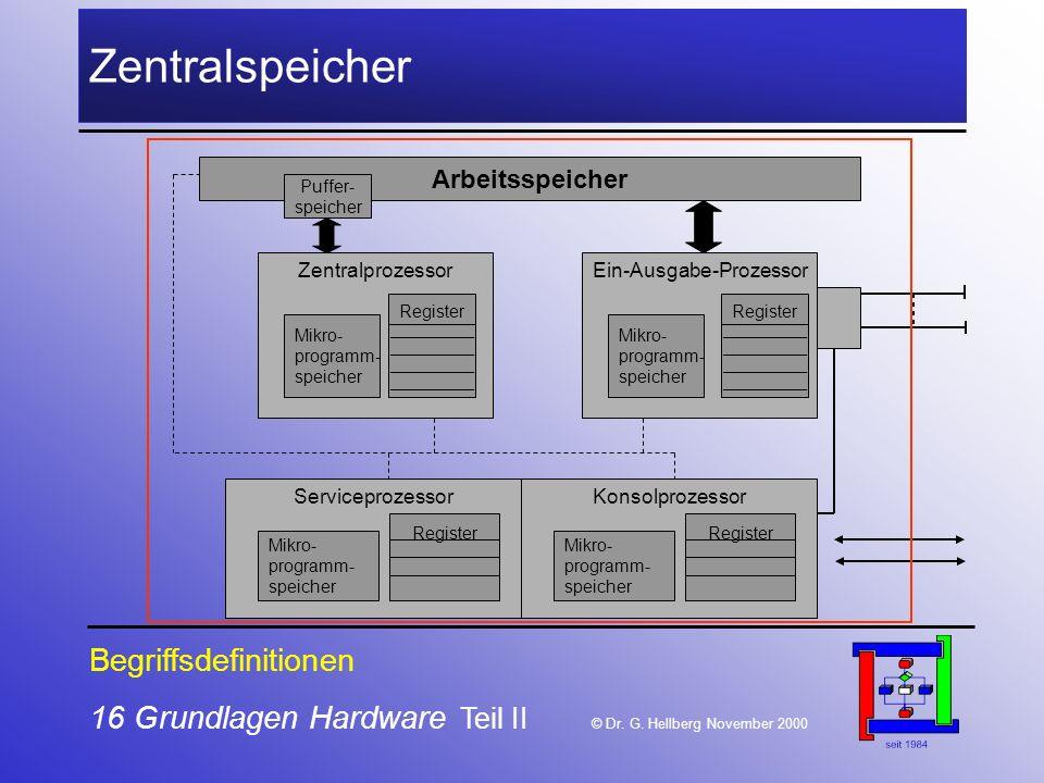 16 Grundlagen Hardware Teil II © Dr.G.
