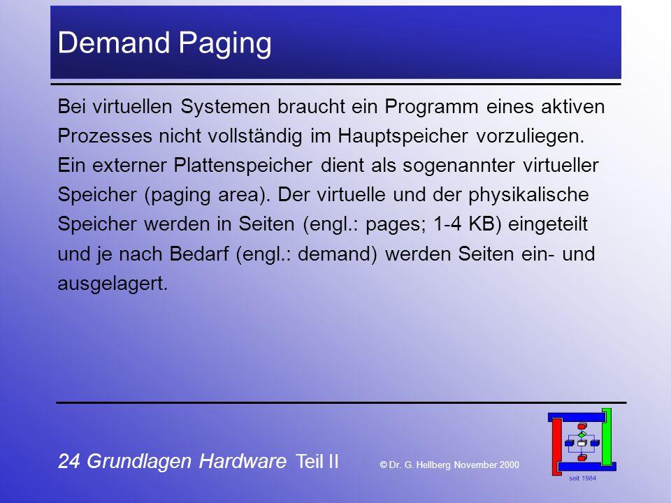 24 Grundlagen Hardware Teil II © Dr.G.