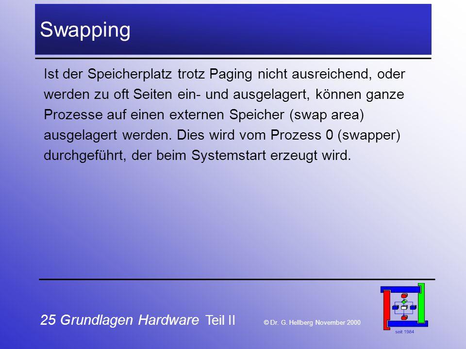 25 Grundlagen Hardware Teil II © Dr.G.