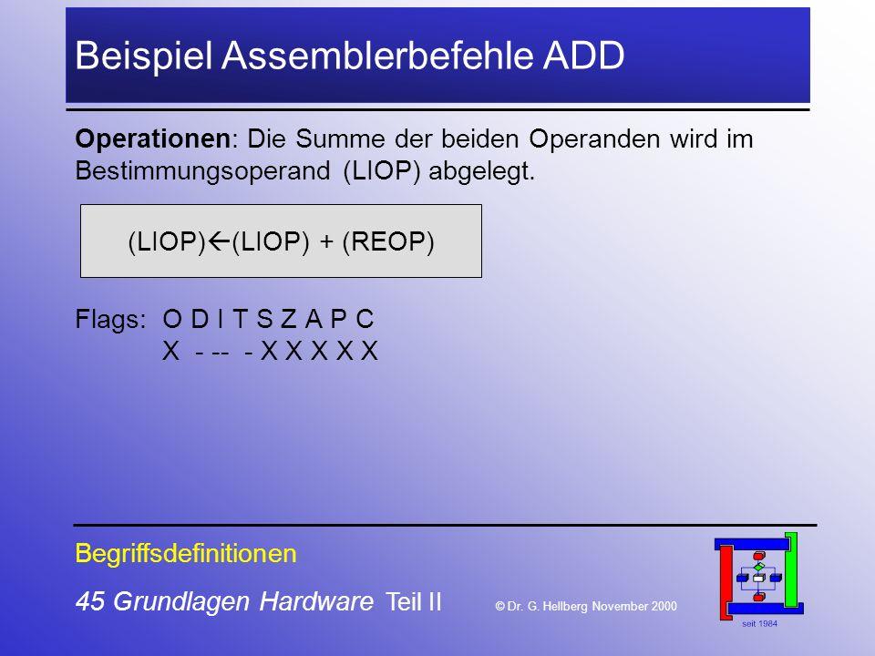 45 Grundlagen Hardware Teil II © Dr.G.