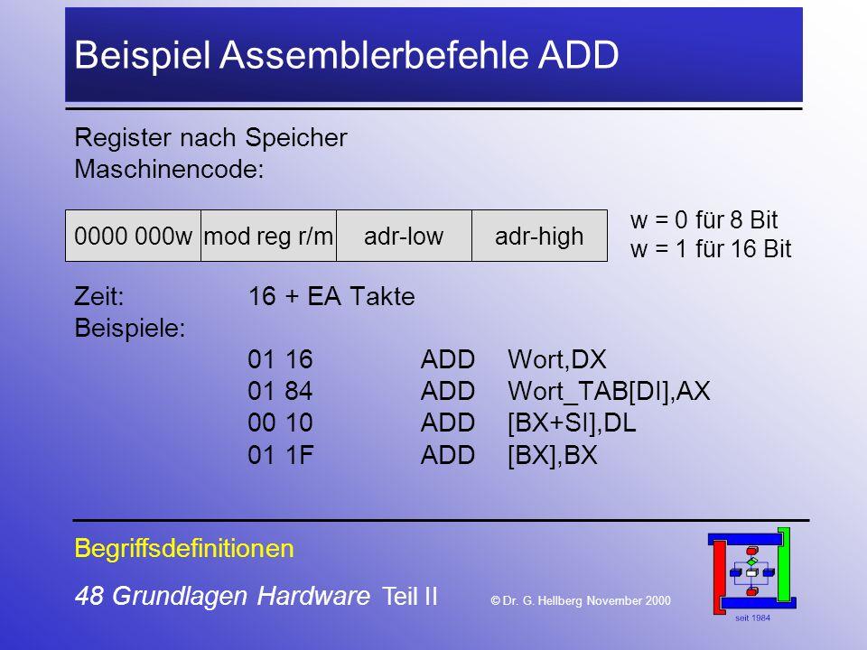48 Grundlagen Hardware Teil II © Dr.G.