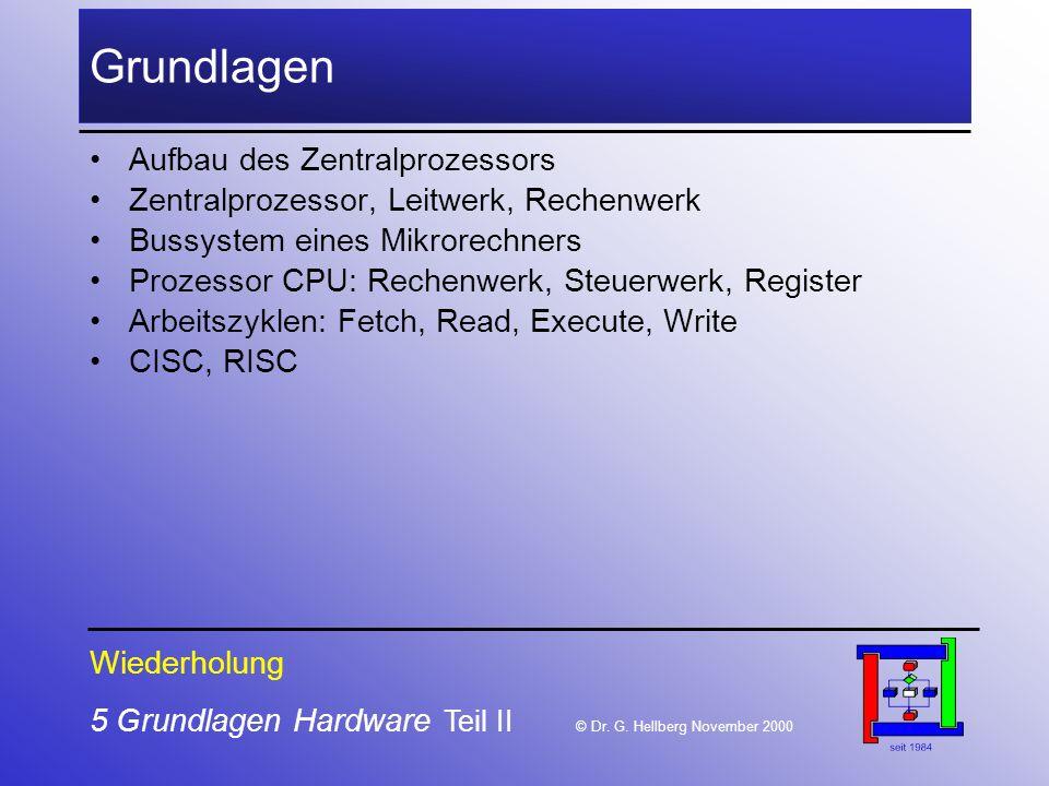 5 Grundlagen Hardware Teil II © Dr.G.