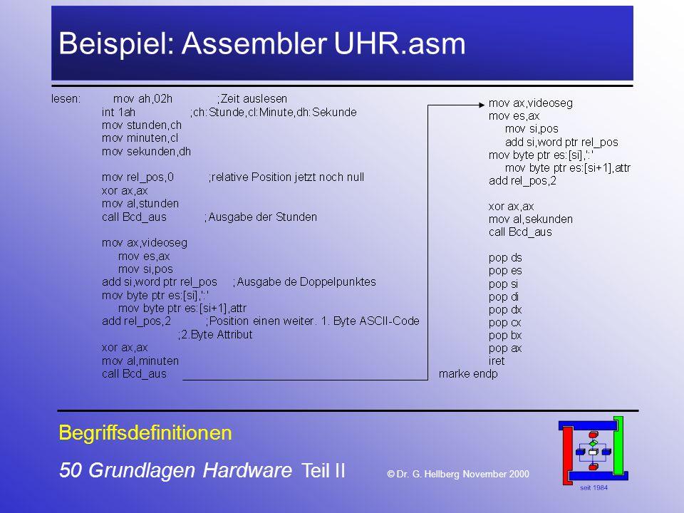 50 Grundlagen Hardware Teil II © Dr.G.