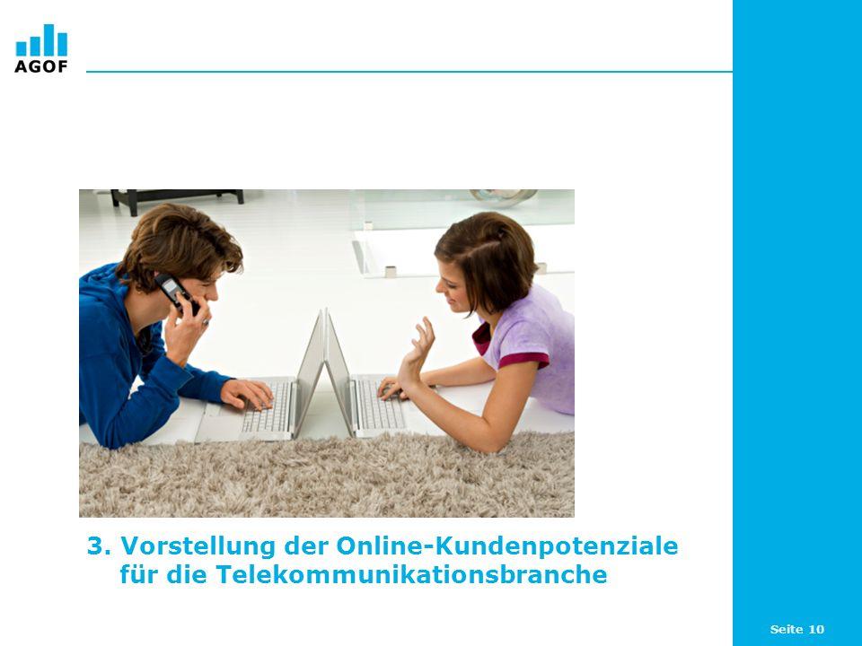 Seite 10 3. Vorstellung der Online-Kundenpotenziale für die Telekommunikationsbranche