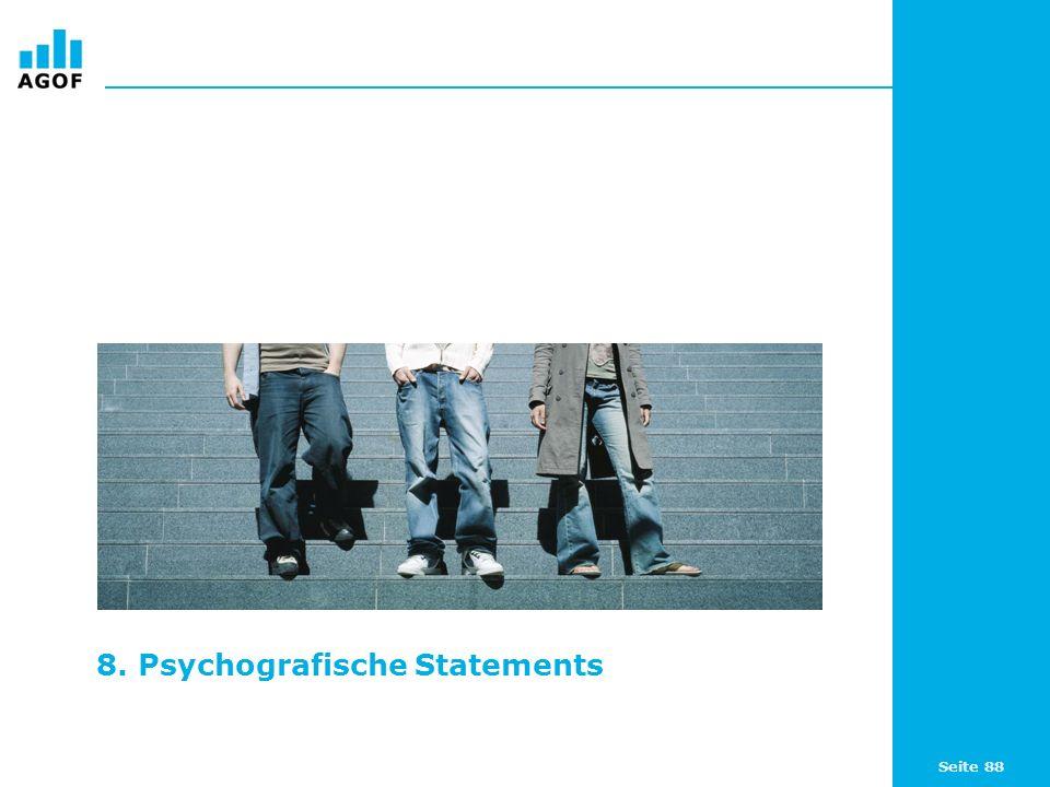 Seite 88 8. Psychografische Statements