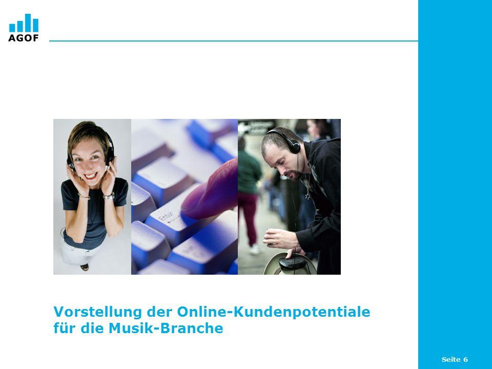 Seite 17 Top 5 Produkte nach Index bei sich online zu Musikartikeln informierenden Internetnutzern (WNK) Basis: 104.544 ungewichtete Fälle (Internetnutzer letzte 3 Monate) Angaben in Prozent und als Index / Quelle: AGOF e.V.