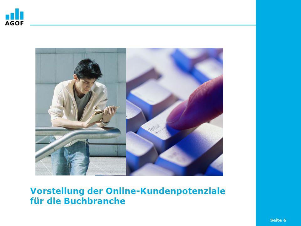 Seite 7 Online-Potenziale für Bücher Unternehmen aus der Buchbranche finden im Internet relevante Kundenpotenziale und damit eine zusätzliche Plattform zur Ansprache ihrer Zielgruppen: 58,6 Prozent (29,10 Millionen) der Internetnutzer (WNK) sind an Büchern interessiert.