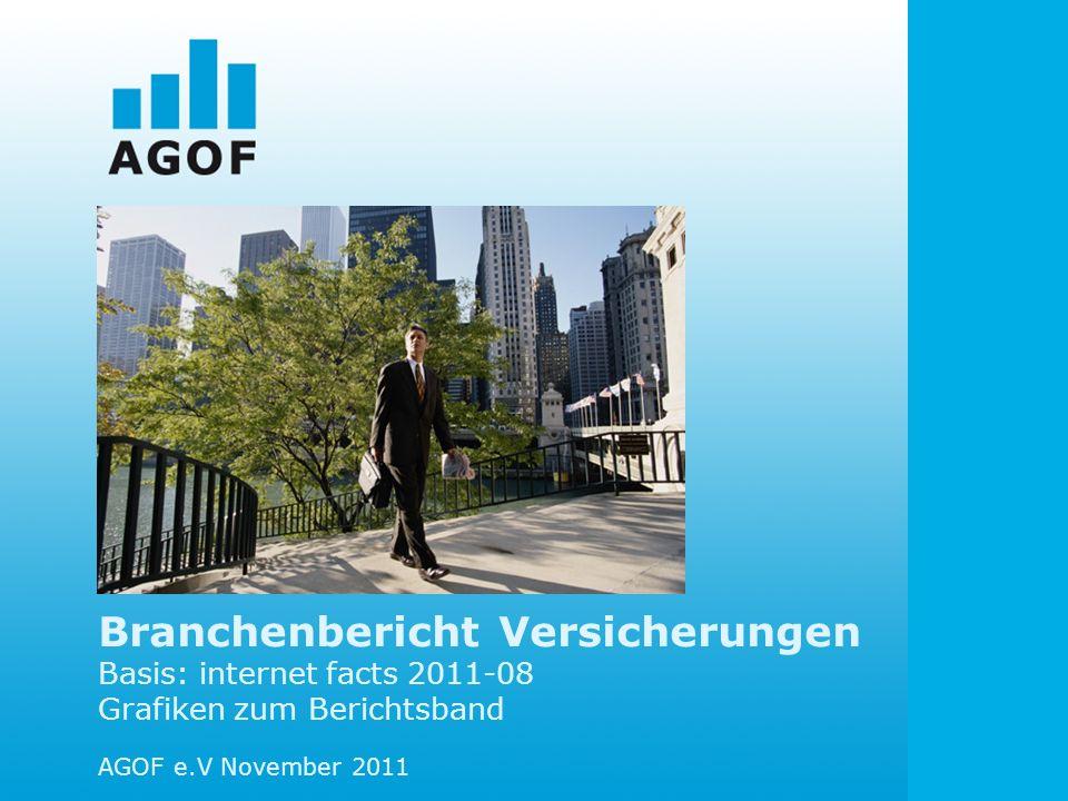 Branchenbericht Versicherungen Basis: internet facts 2011-08 Grafiken zum Berichtsband AGOF e.V November 2011
