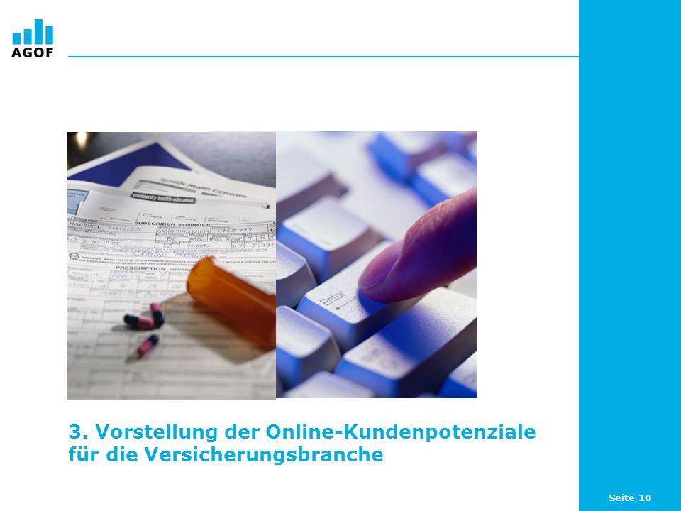 Seite 10 3. Vorstellung der Online-Kundenpotenziale für die Versicherungsbranche