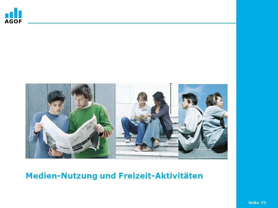 Seite 73 Medien-Nutzung und Freizeit-Aktivitäten