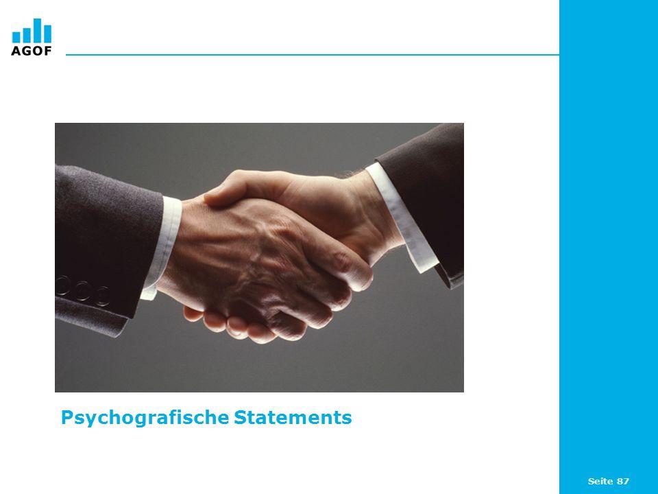 Seite 87 Psychografische Statements