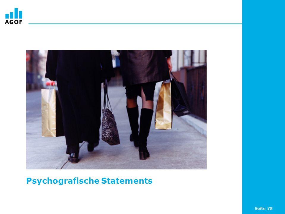 Seite 78 Psychografische Statements