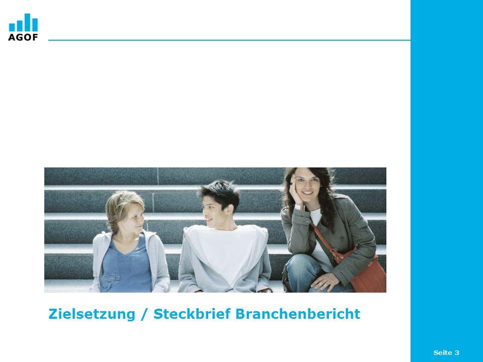 Seite 3 Zielsetzung / Steckbrief Branchenbericht