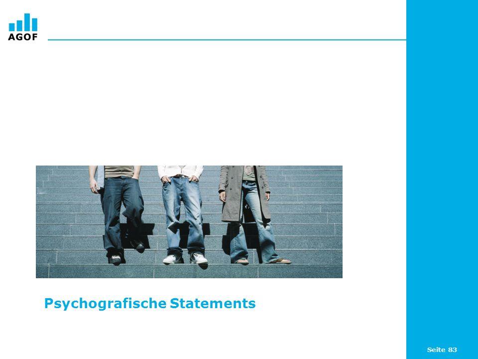 Seite 83 Psychografische Statements
