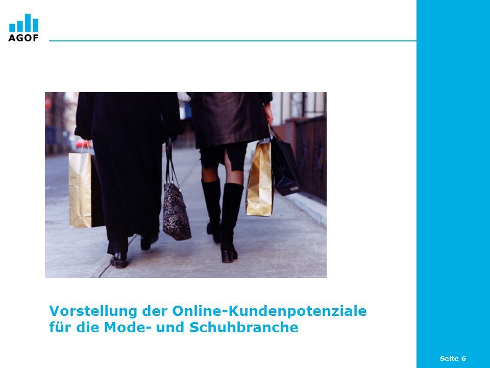 Seite 7 Online-Potenziale rund um Mode & Schuhe Unternehmen aus der Mode- und Schuhbranche finden im Internet relevante Kundenpotenziale und damit eine zusätzliche Plattform zur Ansprache ihrer Zielgruppen: 72,6 Prozent (30,33 Millionen) der Internetnutzer (WNK) sind an Mode oder Schuhen interessiert.
