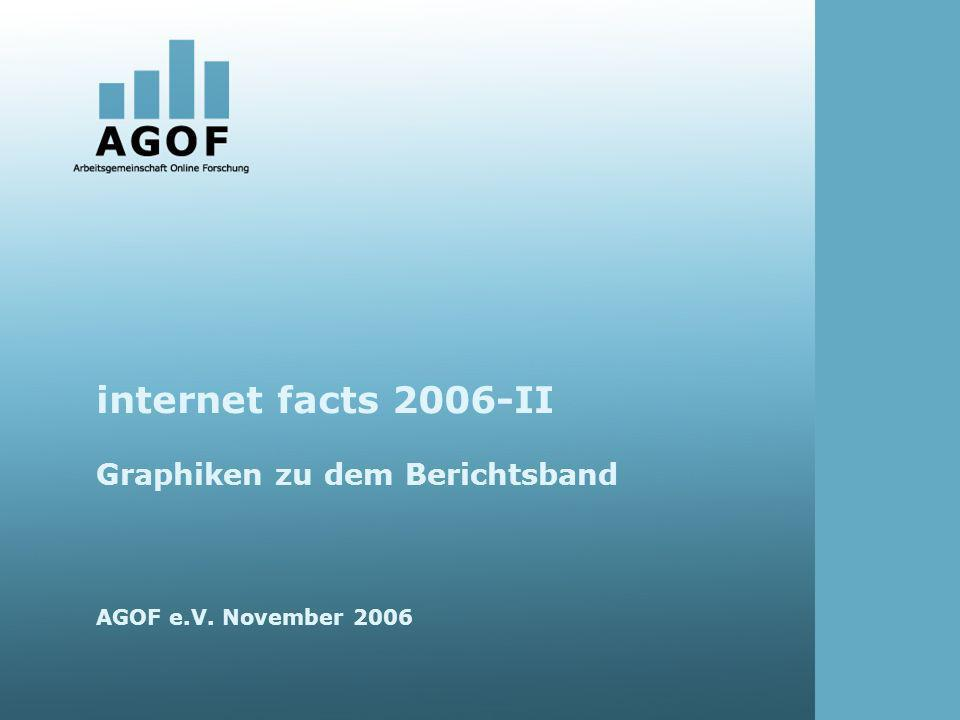 internet facts 2006-II Graphiken zu dem Berichtsband AGOF e.V. November 2006