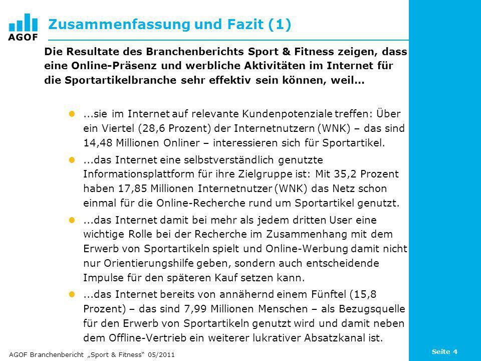 Seite 15 Online-Informationssuche rund um Sportartikel Davon Online- Informationssuche rund um Sportartikel: 35,2% = 17,85 Mio.