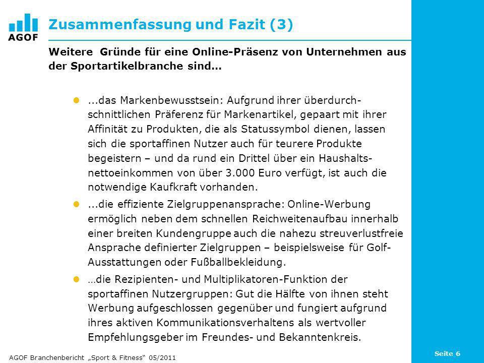 Seite 77 Freizeit-Aktivitäten: Fitness, Sport treiben Basis: 101.105 Fälle (Internetnutzer letzte 3 Monate) 112.450 Fälle (deutschsprachige Wohnbevölkerung in Deutschland ab 14 Jahren) Angaben in Prozent / Quelle: AGOF e.V.