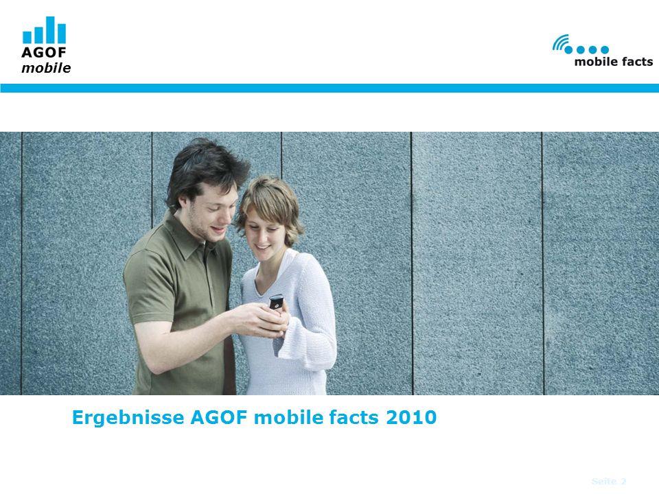 Seite 2 Ergebnisse AGOF mobile facts 2010