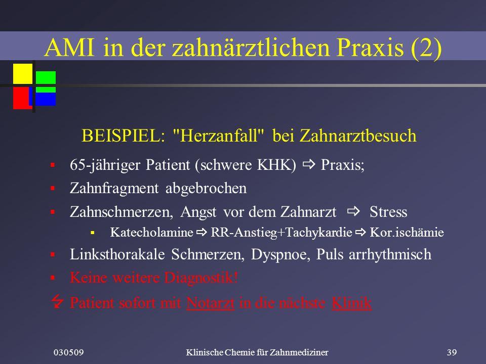030509Klinische Chemie für Zahnmediziner39 BEISPIEL: