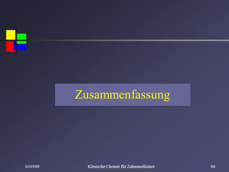 030509Klinische Chemie für Zahnmediziner46 Zusammenfassung