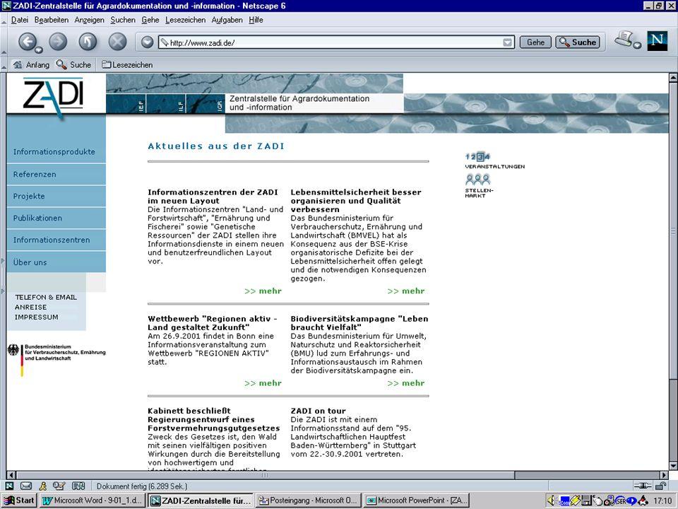 Zentralstelle für Agrardokumentation und -information