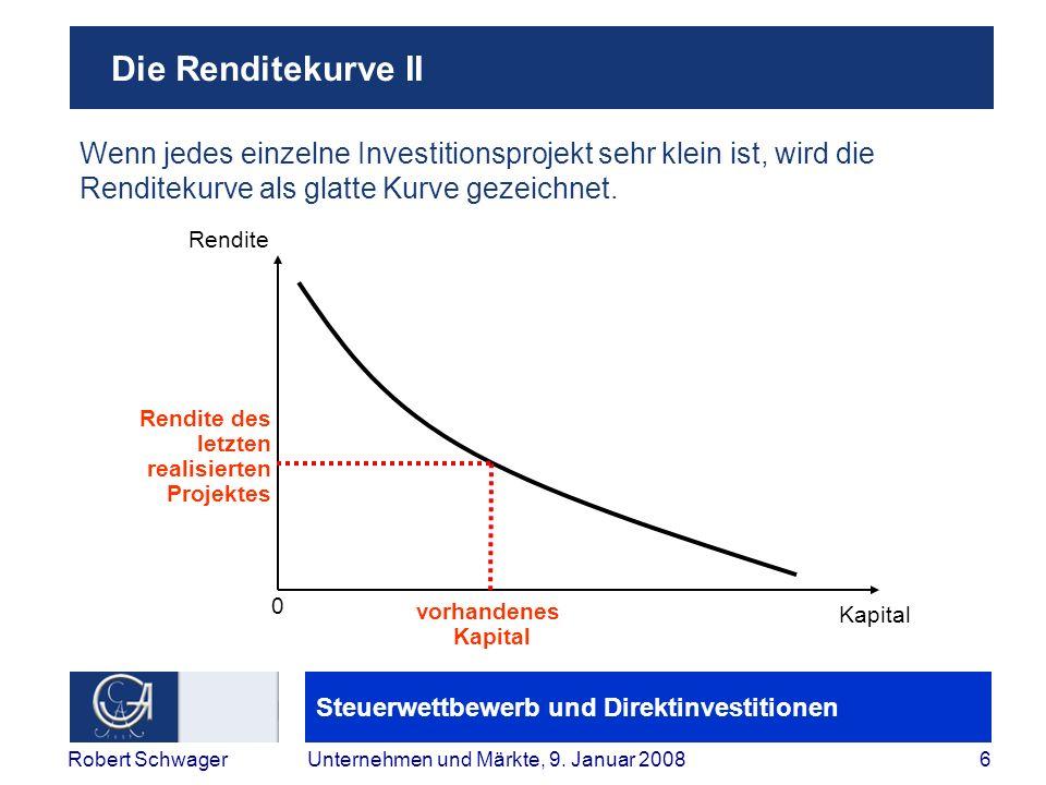 Steuerwettbewerb und Direktinvestitionen 6Robert SchwagerUnternehmen und Märkte, 9.