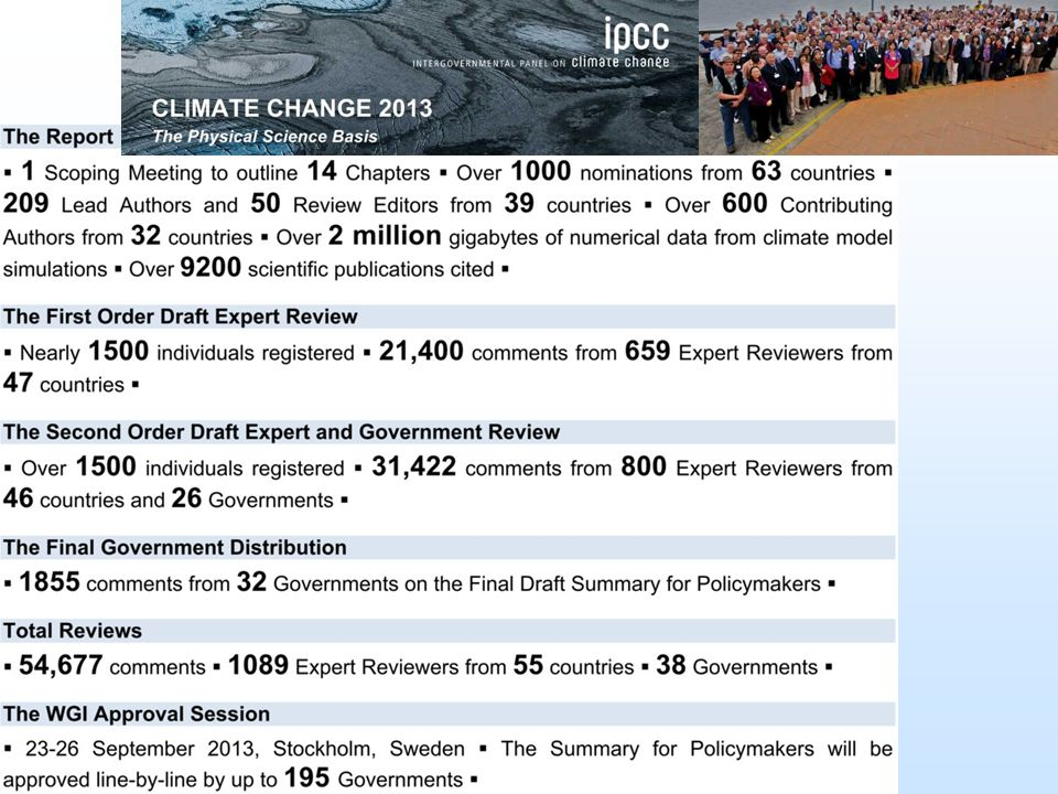 Influences of greenhouse gas emissions on climate, land and ocean http://www.ipcc.ch/report/ar5/wg1/#.UmaovECNAXchttp://www.ipcc.ch/report/ar5/wg1/#.UmaovECNAXc (22.10.2013) 2007 2013 2001 2007 2013 2001