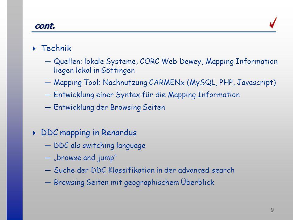 20 Ausblick, URLs DDC Mapping Report und Guidelines werden bis Ende des Jahres aktualisiert veröffentlicht (zur Zeit nur mit Paßwort) vgl.