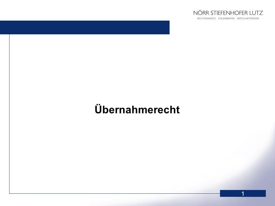 2 Allgemeine Grundsätze § 3 WpÜG 1.Gleichbehandlung der Angebotsadressaten.
