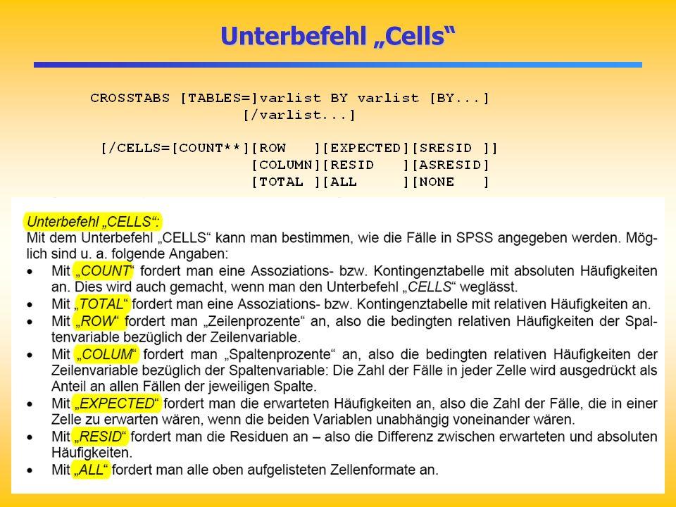 Unterbefehl Cells