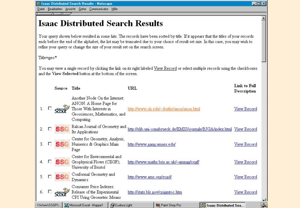 ISAAC Network Beispielseite
