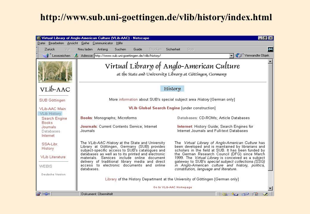 http://www.sub.uni-goettingen.de/vlib/history/index.html