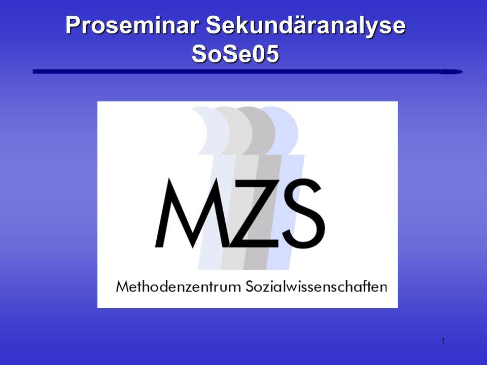 2 Überblick Überblick 1.Zielsetzung des Seminars 2.