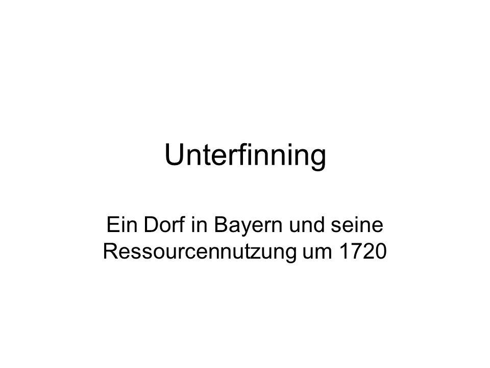 Unterfinning Ein Dorf in Bayern und seine Ressourcennutzung um 1720