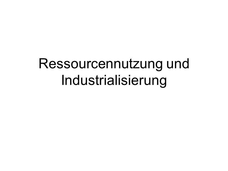 Ressourcennutzung und Industrialisierung