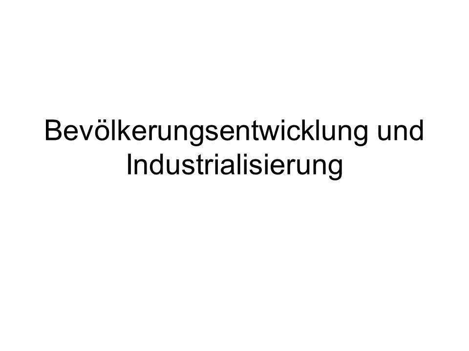 Bevölkerungsentwicklung und Industrialisierung