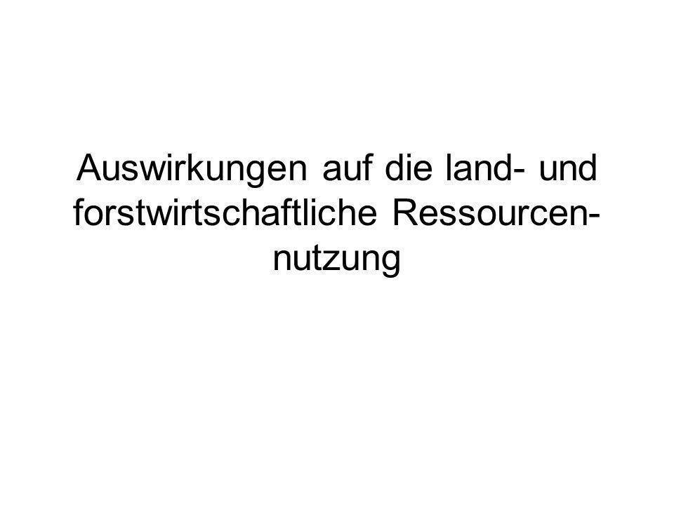 Auswirkungen auf die land- und forstwirtschaftliche Ressourcen- nutzung