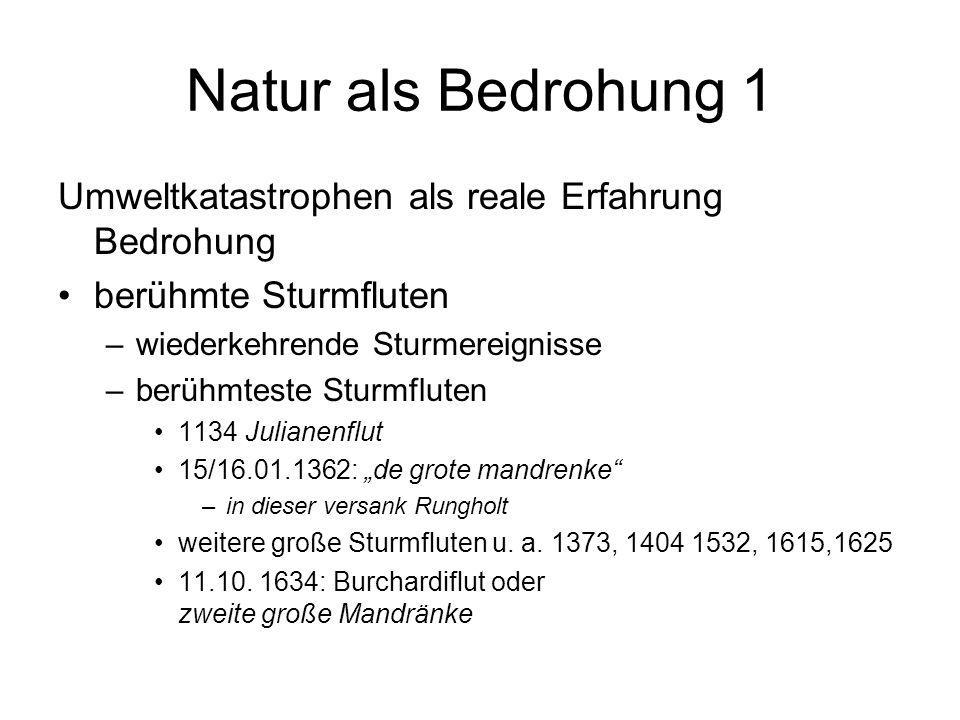 Natur als Bedrohung 2 Vielzahl von Starkregenereignissen –Unwetterperioden –Flussüberschwemmungen Heuschreckenplagen –1338 Heuschreckenschwärme zwischen Frankfurt, M.