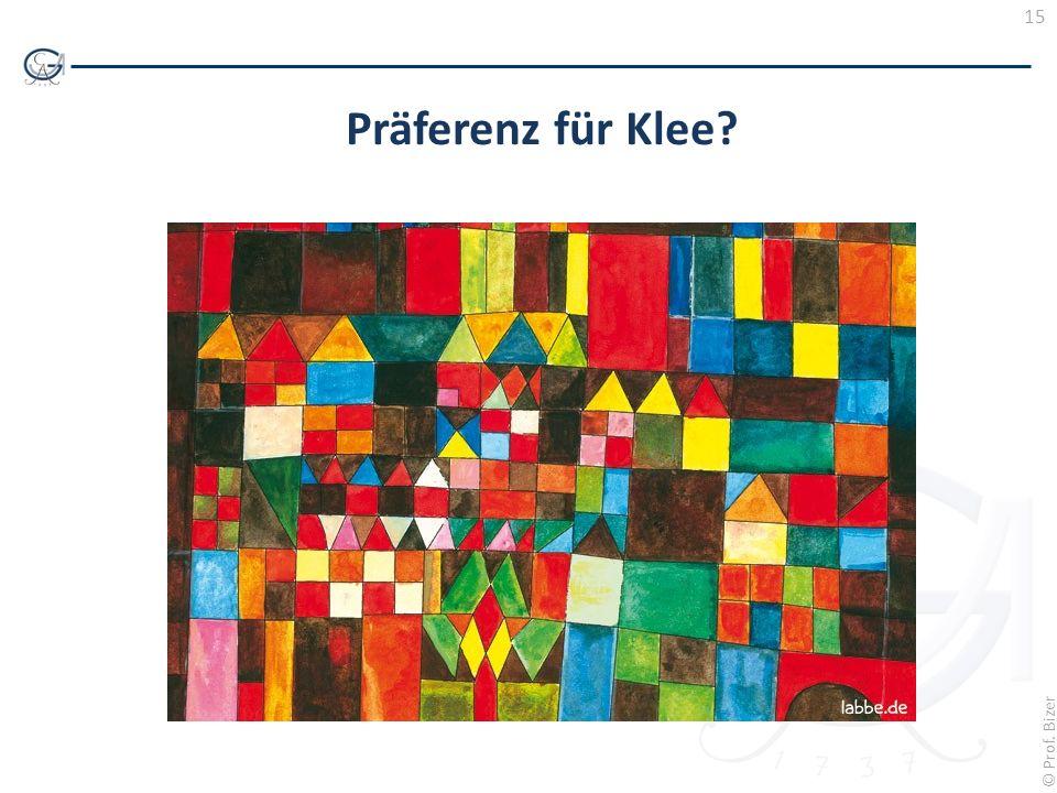 15 © Prof. Bizer Präferenz für Klee?