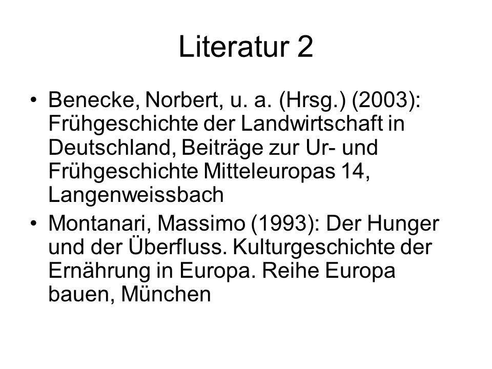 Literatur 2 Benecke, Norbert, u.a.