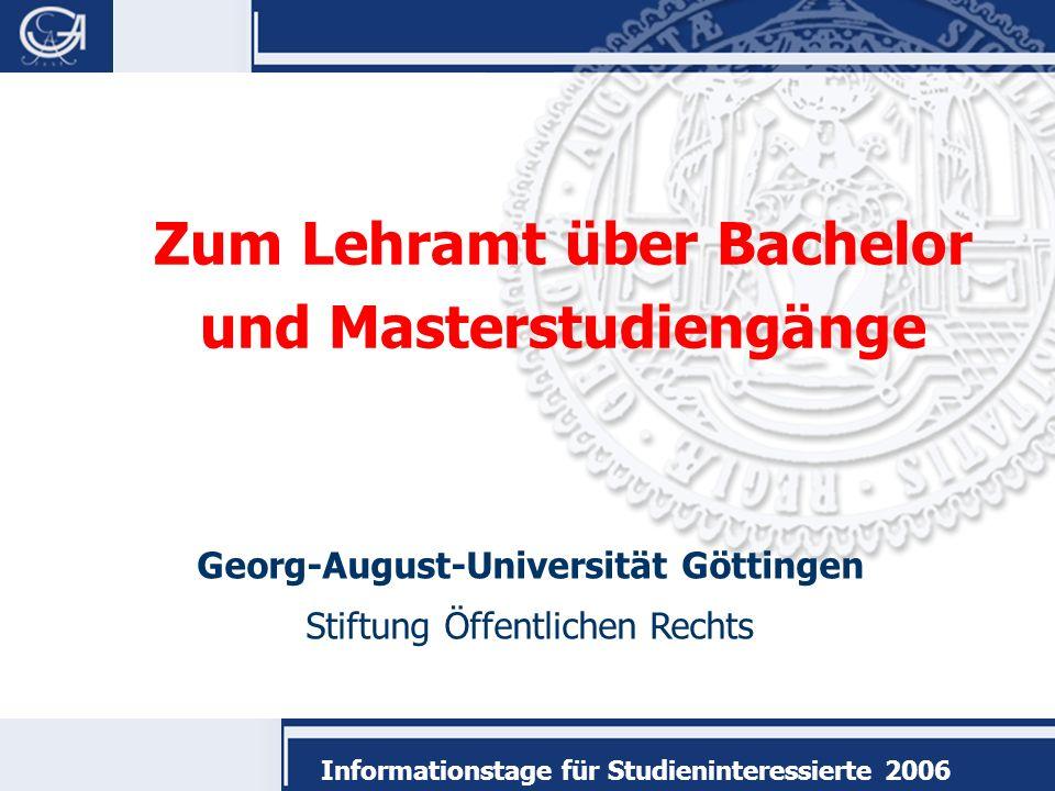 Informationstage für Studieninteressierte 2006 Überblick Forschung: Der gute Lehrer Sind Sie geeignet.