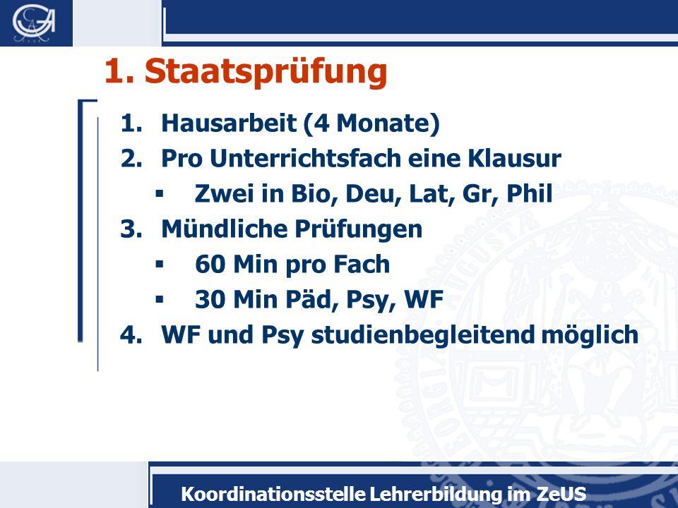 Koordinationsstelle Lehrerbildung im ZeUS 1.