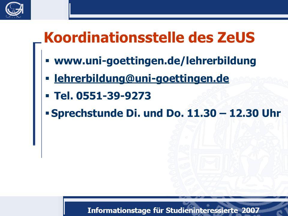 www.uni-goettingen.de/lehrerbildung lehrerbildung@uni-goettingen.de Tel.