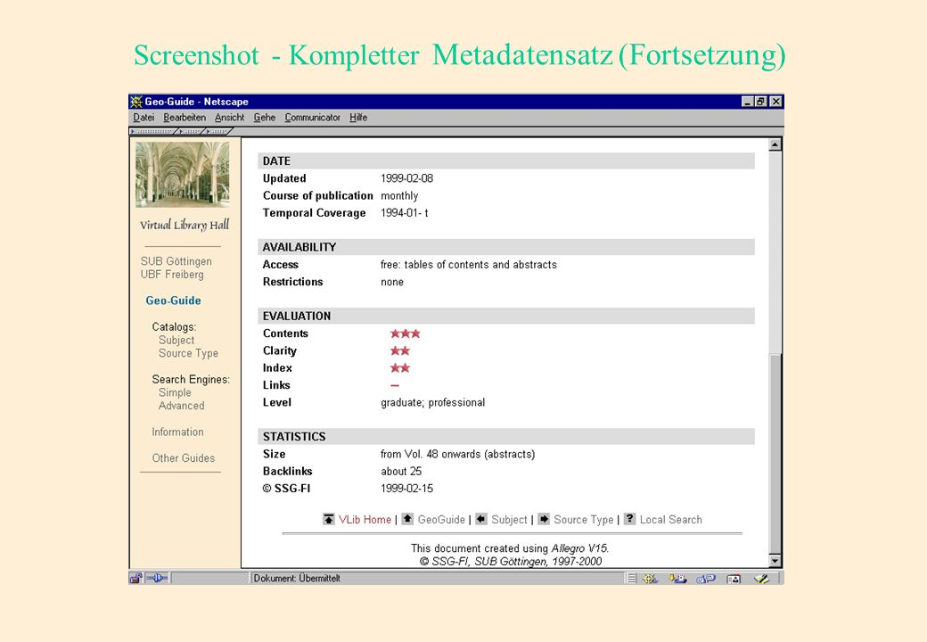 Screenshot - Kompletter Metadatensatz