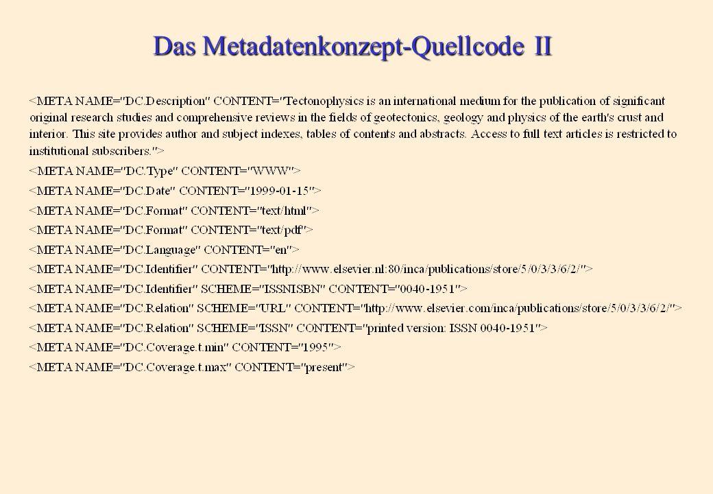 Das Metadatenkonzept-Quellcode