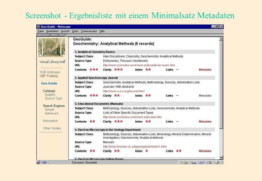 Das Metadatenkonzept-Quellcode III